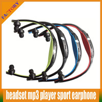 Wholesale Colorful Sport MP3 Headset WMA Music Player FM Radio TF Micro SD Card Slot Wireless In Ear Headphone Earphone hot sale sport earphone