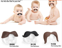 Wholesale Popular in United States beard pacifier funny pacifiers silicone baby mustache pacifier baby s dummy soothers cute teat