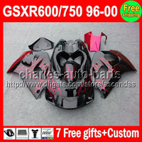 7gifts For SUZUKI GSXR600 750 SRAD Red flames GSXR 600 750 9...