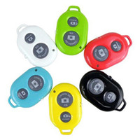 Wholesale New Bluetooth Remote Camera Control Self Timer Shutter for iPhone S C S Air Samsung Galaxy S5 S4 Note HTC Nokia Phone Tablet PC