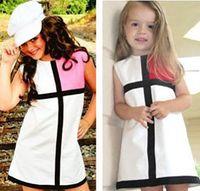 100% cotton baby clothes - Retail Girl Dress Frozen Dress Party Cross Splice Baby Girls Princess Dresses Kids Clothes Elsa Children cotton Cheap tcq R2