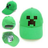 Wholesale Minecraft JJ Monster Creeper Toy Hat baseball hat Sun hat Peaked Cap Children s Caps Hats