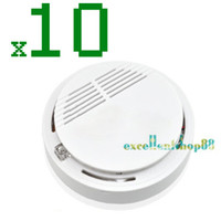 Cheap 10pcs lot Sensitive Photoelectric Home Security System Cordless Wireless Smoke Detector Fire Alarm