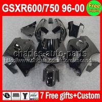 gsxr 600 fairing - 7gifts For SUZUKI GSXR600 SRAD GSXR ALL Black C L62 GSX R600 R750 Gloss black Fairing On Sale