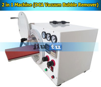 Cheap new 2 in 1 machine for  phone repair 2 in 1 machine for cracked screen Best Laminator OCA  for all LCD refurbishment 220V bubble remover for iphone