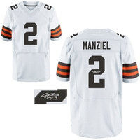 Football athletic apparel brands - manziel white Jersey Autographed Jerseys Brand Athletic Apparel Hot Sale Sports Apparel Sale Top Sporting Jerseys for Sale