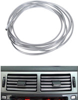 Wholesale M U Style DIY Car Interior Air Conditioner Outlet Vent Grille Chrome Decoration Strip Silvery