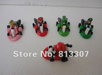 Wholesale Super Mario pvc toy plastic doll Kart version pull back car portfolio set inch cm