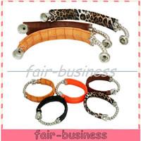 Wholesale DHL Fedex Wrist Hookah Leather Bracelet Pipe Leopard Smoking Bracelet Pipe For Click N Vape Rasta Tobacco Weed Sneak A Toke Discreet