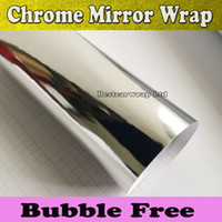 vinyl for car wrapping - Flexiable Silver Mirror Chrome Vinyl Wrap With High Stretch For Car Wrapping Air bubble Free size x20m Roll x66ft