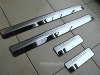 Wholesale FIT FOR Nissan Qashqai and Qashqai Dualis Stainless Door Scuff Sill Plate Cover Trim