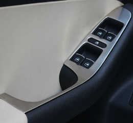 Wholesale New High Quality Volkswagen vw Jetta MK6 trim stainless steel armrest panel cover decoration for Jetta MK6 auto parts