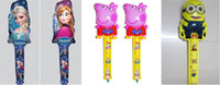 Wholesale 30 quot snow ice Romance Frozen ELSA ANNA Precious Milk Dad Despicable Me small yellow people Peppa Pig balloons blow stick Up stick balloon