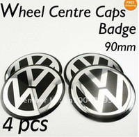 Wholesale 4PCS mm VW Aluminium Wheel Centre Caps Badges Emblems mm GOLF PASSAT