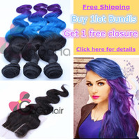 Cheap Buy 1 Get 1 Free Brazilian Hair Weaves Body Wave 3pcs lot with one Free Top Closure Human Bundles with Lace Closure Free Shipping