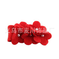 Wholesale Korean children s dance pearl jewelry fashion fabric flower corsage brooch lady bridal jewelry