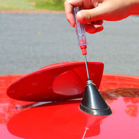 Wholesale Newest design special car With blank radio shark fin antenna signal shark fin with M adhesive for VW polo Bora