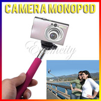 Cheap New Portable Handheld Flexible Telescopic Extendible Phone Monopod Photo Tripod Light Weight for Digital Camera Camcorder Pink