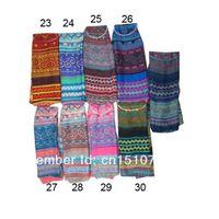women muslim scarf - 40 more colors Fashion women long voile geometry print shawls hijab muslim scarf tribal aztec shawl