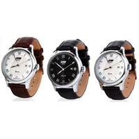 Wholesale Hot explosion models genuine high end men s classic business really belt quartz watch men watch big dial fashion waterproof calendar