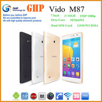 Wholesale NEW Vido M87 MTK6592 Octa Core GHz G Phone Call Tablet PC quot IPS x1200 GB GB Android GPS WiFi Free Sipping