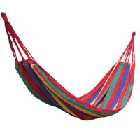 Cheap Outdoor Canvas Garden Camping Portable Travel Beach Fabric Swing Bed Hammock