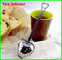 Wholesale 1000pcs Stainless steel Heart Shaped Heart Shape Tea Infuser Strainer Filter Spoon Spoons Wedding Party Gift Favor