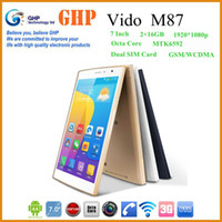 Wholesale Original Vido M87 MTK6592 Core Dual SIM GHz GB GB Golden inch G Voice function Android Phone Call G Tablet PC