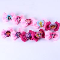 Cheap Wholesale-OP-Fashion Cute Baby kid children girl Bow Minnie Mouse Dora Princess Barrettes hairpin hair accessory 9 Style PAH-3060