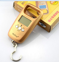 Cheap Wholesale-OP-Hanging Scale Luggage Digital 50Kg 5g BackLight Fishing Scales Pocket Weight ( Gold Colour )