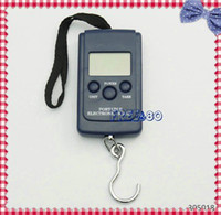 Cheap Wholesale-OP-Metric Imperial American conversion Luggage Scale Fishing Weight Digital Scale 40kg 20g 88lb 0.70oz 200pcs lot
