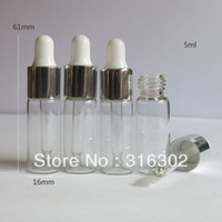 Wholesale MLClear Glass Dropper Bottle ML Dropper Vial cc Glass Container