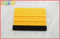 Wholesale 10pcs car Squeegee Car wrapping Tool and M Soft material Car Vehicle Film Scraper with soft ending JJJ