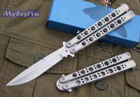 folding knife - BM BM42 Silver butterfly Tactical Hunting Knife Pocket Folding Knife camping hiking outdoor sport BM42 BM46 Knife Knives with nylon bag
