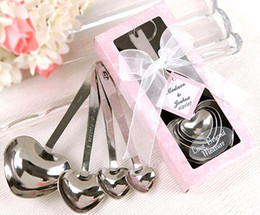 Heart-Shaped Measuring Spoons in Gift Box wedding giveaway centerpieces souvenir accessories supplies party