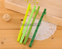 Wholesale 2014 new fashion Creative bamboo gel pen Promotional pen Creative stationery fresh green bamboo