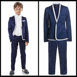 Wholesale Children Suits for Party Occasion Customized Boy Suits Set Jacket Pants Shirt Vest bow tie Boys Casual Suit