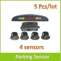 Wholesale 5PCS RS E LED Car Parking Sensor Radar System Kits with sensors For Vehicle Backup Reverse Security