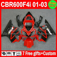 7gifts Stock red For HONDA CBR600F4i CBR600 F4i 01 02 03 C#L...