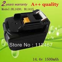 Wholesale 1500mah Power Tool Battery for MAKITA v Ah BL1430 BL1415 BTD132Z BTS130Z BFR540RFE BFS450RFE BCL140Z BHR162Z Tool Battery