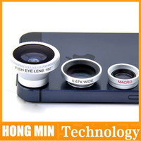 Cheap Wholesale - OPP bag wide Angle lens Amd is 180 ° from lens fisheye lens Universal triad cell phone camera for iphone5 iphone5s iphone6