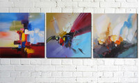 Cheap Thick Texture,Modern Abstract handpainted Oil Painting On Canvas 3 piece set Wall Art ,Top Home Decoration painting ,CX215