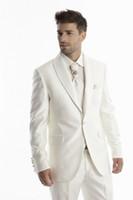 best winter coat for men - Groom Tuxedos Best Man Bridegroom Men Wedding Party Suits Design Jacket Pants Tie Vest New Design Wedding Coat for Men