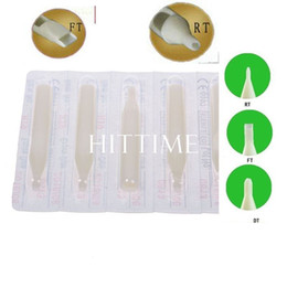 Wholesale New Sterile Assorted Plastic Disposable White Tattoo Nozzles Tube Round Flat