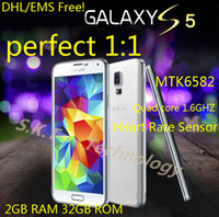 Wholesale Samsung Galaxy S5 Phone i9600 Phone inch Mobile Phone S5 i9600 Phone QuadCore G RAM G ROM DHL