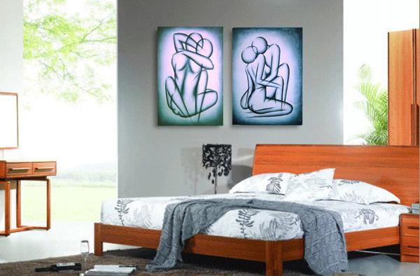Abstract Nude Handmade Modern Oil Painting Canvas Sex U0026 Love Abstract Art  Home Hotel Bar Wall Art Decoration ,CX2002 Handpainted Oil Painting Home  Decor ...