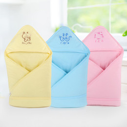 Wholesale 3 Colors Newborn Swaddle Infant Cotton Blankets Baby Sleeping blankets