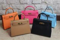 Women purse hardware - High quality CM epsom leather Women s handbags purse Genuine leather Tote Gold hardware silver hardware