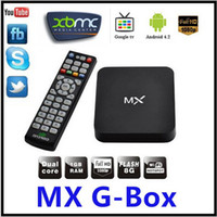 Dual Core Included 1080P (Full-HD) E-M6 MX Android TV Box Midnight MX2 XBMC Fully TV Killer Android 4.2 XBMC Midnight Preinstalled Amlogic 8726-MXMX XBMC TV Box
