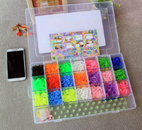 Cheap 1set(4200pcs) rubber loom band kit children DIY bracelet gift with glow in dark loom band free shipping